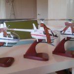 Модели вертолетов R44 и R66.